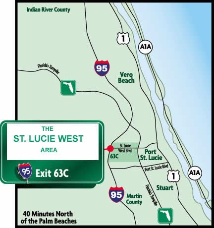 St Lucie West Map